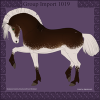 1021 Group Horse Import by Cloudrunner64