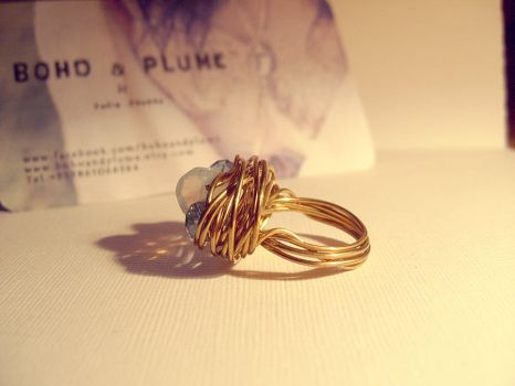 Wire Wrapped Ring by JuliaMJensen