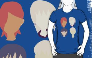 The Team color block shirt by timestoneauthor203