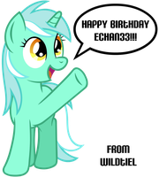 Lyra Says Happy Birthday by wildtiel