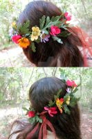 Late Spring Floral Crown by ValkyrieOfODIN