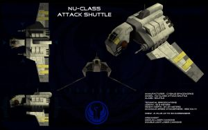 Nu Class Attack Shuttle ortho by unusualsuspex