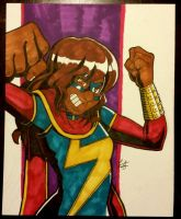Ms. Marvel commission I did at MBCC! by ZombieErnie
