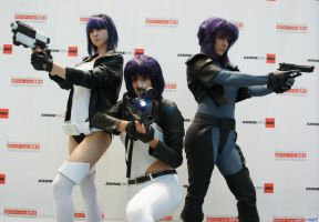 Motoko Triple Threat Anime Expo 2012 by Blondie1419