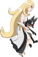 Pokeson - New Arceus Cynthia and Hypon by Hyper-sonicX