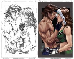 Gambit and Rogue by Abreu by IvannaMatilla