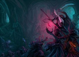 CT: Drow vs. Mindflayer by Merlkir