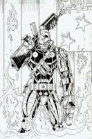 Deathlok Inked by CliffEngland