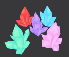 Crystal Clusters by Rika-of-Thunder