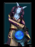 Draenei Priest .:Kro:. by deranged-flutterby