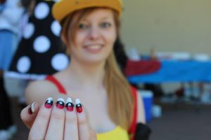 Pokeball Nails by SkullyLuv