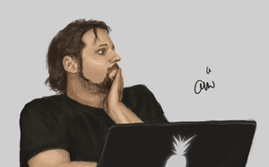 Gronkh Fanart #4 (Speed Painting) by maausi