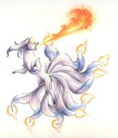 Shiny Ninetales by FoolishLittleMortal