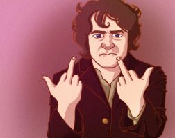 Flip off - Bilbo by Staubie