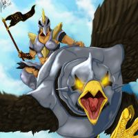 Riding Kree'arra by l3nbak