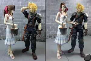 Aerith and Cloud - Flirtation by noelzzz