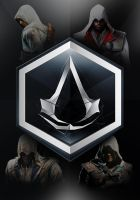 Assassins Creed: boxset design: front cover by GingerJMEZ