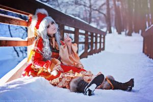 Myobi. Doll in the snow. by TaisiaFlyagina