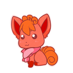 Vulpix chibi for Larinelle by Chibi0Wolfie