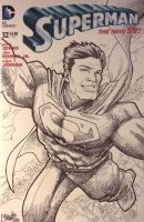 Superman Variant Cover by artistjerrybennett