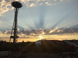 Seattle Sunset by Chipo-H0P3