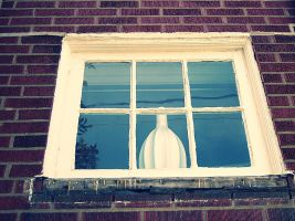 Old Window and Vase by B9CC1D