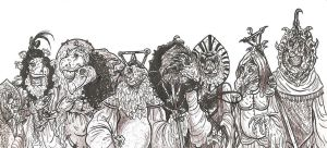 SKEKSIS GROUP PICTURE-For TMNT2000 by smeagolisme