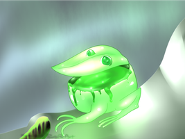 Hatched Neon Toxic Pitcher Frog! by PeachyPieAdopts