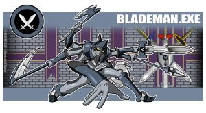 Blademan.EXE by Higure-san