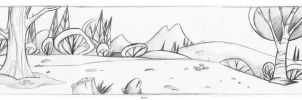 Land scape Cartoon by celaoxxx