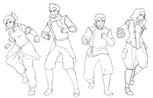 Legend of Korra Crew by DiamondMog