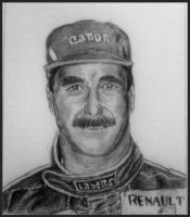 Nigel Mansell Sketch by Galbatore