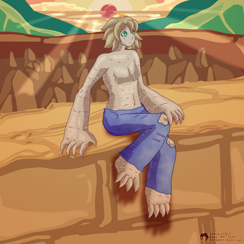 [AT] - Sunset Golem by RetroInk