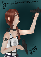 -contest for Puruum- Raven by Pcyzicus