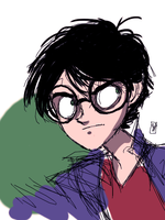 Tegaki Harry Potter by Homemadedarkmark