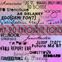 My 20 favourite fonts by FloorYriarte