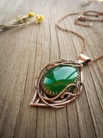 Amaryllis - wire pendant by UrsulaOT