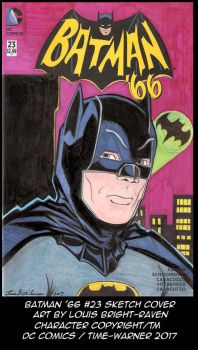 Batman '66 #23 Sketch Cover (available) by Bright-Raven