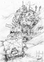 sketch - howl's moving castle by vtas