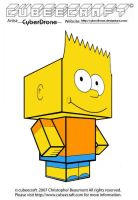 Cubeecraft - Bart Simpson by CyberDrone