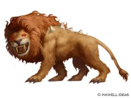 Inkwell Dire Lion by Quigleyer
