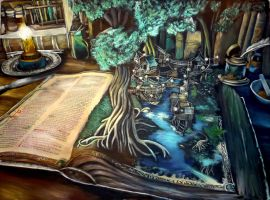 Magical book :) by WormholePaintings