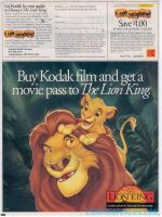 Lion King Kodak Movie Ticket Promo #3 by LionKingForLife