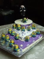 Despicable Me Cake by ratgirl84