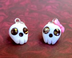Tiny Little Skull Charms by DragonsAndBeasties