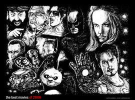 The Best Movies of 2008 - BW by karthik82