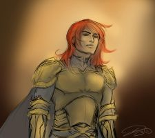 Red-haired Paladin by Silverlykta