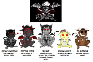 A7X Demon Stuffies by DemonTiger777
