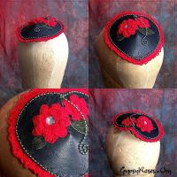Hearts and Flowers Goth Hat by che4u