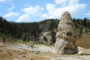The Liberty Cap at Mammoth Hot Springs by RiverRune